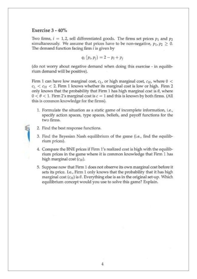 Game theory homework help