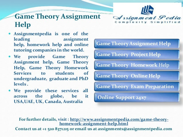 Game theory homework