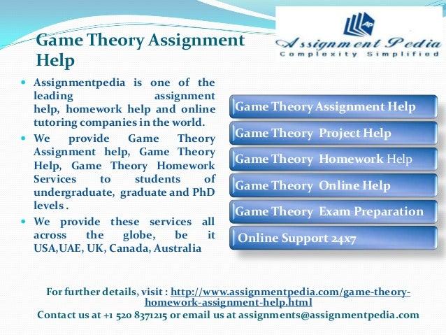 Game theory homework