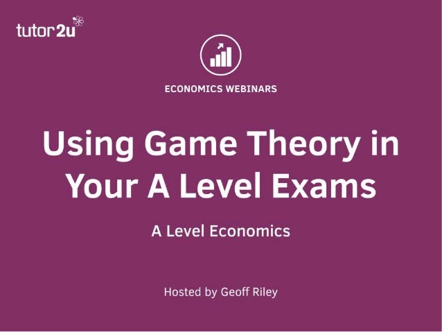 game theory in economics Game theory as a doctoral student in the 1930s and elaborating a personal view  of the role of duality in game theory and economics the article is interesting.