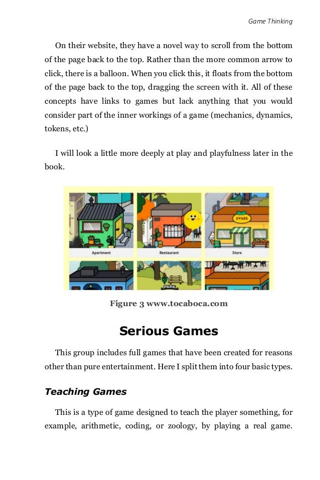 Game Thinking On their website, they have a novel way to scroll from the bottom of the page back to the top. Rather than t...