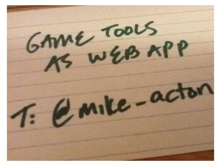 Game tools as a webapp (2011)