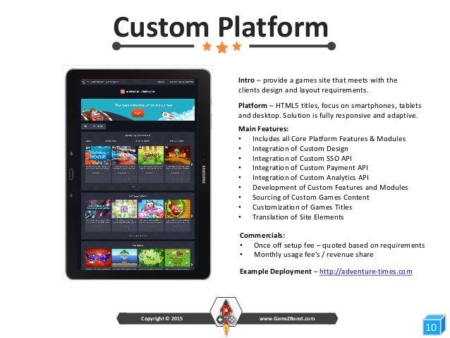 GameZBoost White Label Gaming Platform Product Deck