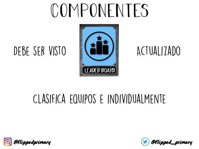 Componentes Identifica al alumnado Pueden ser Ficticios o no @flippedprimary @flipped_primary