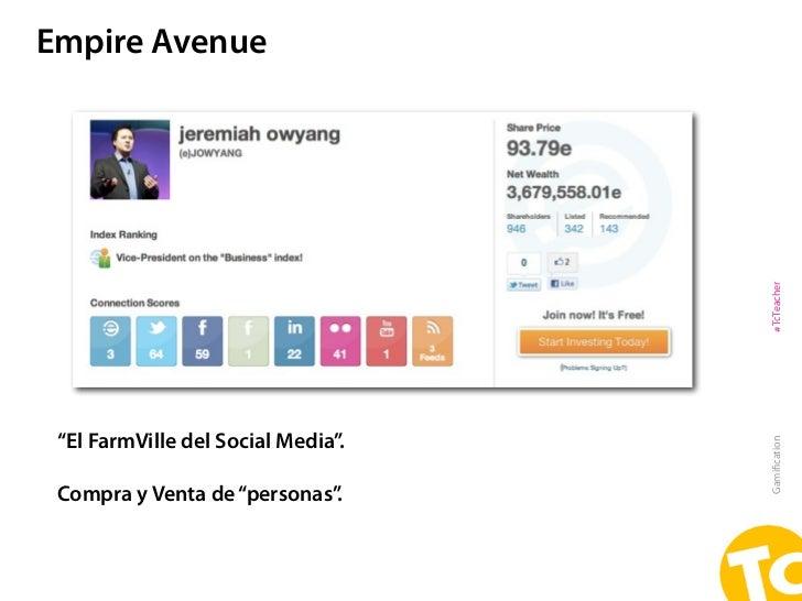 """Empire Avenue                                    #TcTeacher """"El FarmVille del Social Media"""".                              ..."""