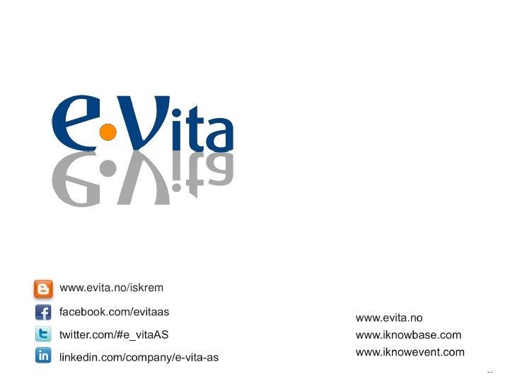 www.evita.no/iskrem                      20