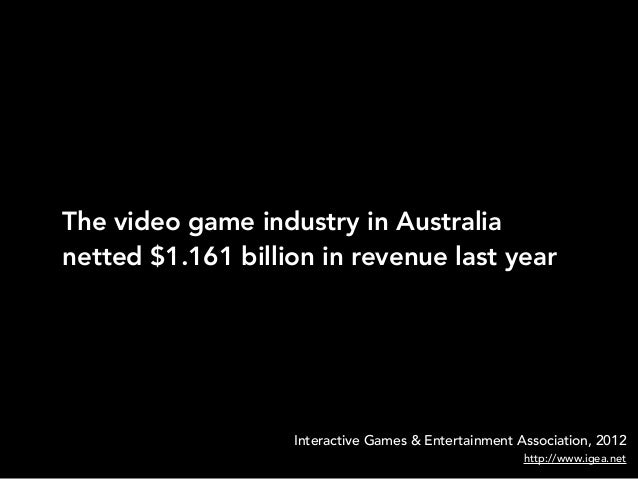 The video game industry in Australianetted $1.161 billion in revenue last yearInteractive Games & Entertainment Associatio...