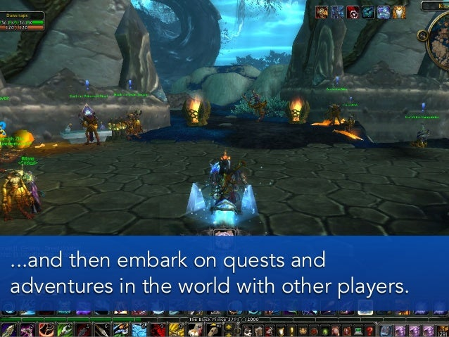 ...and then embark on quests andadventures in the world with other players.