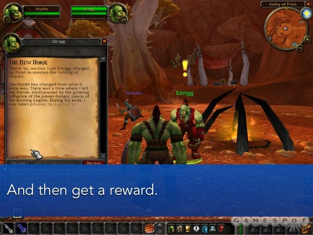 And then get a reward.