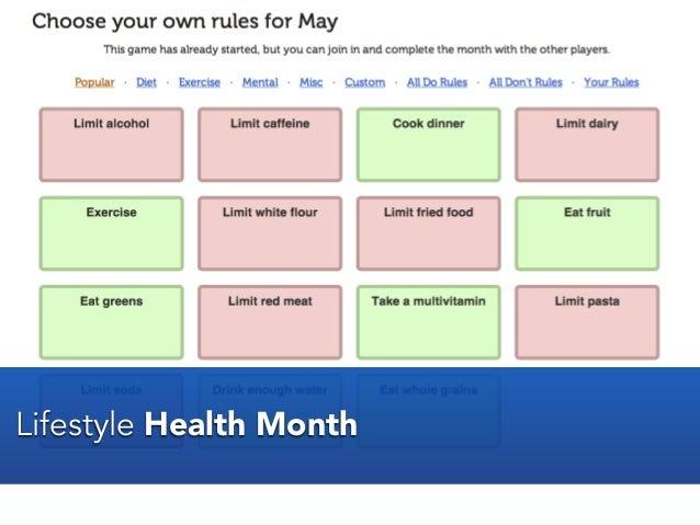 Lifestyle Health Month