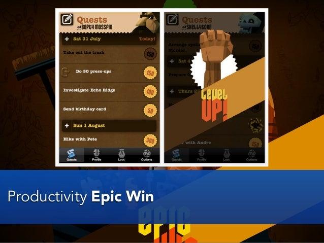 Productivity Epic Win