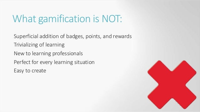 Gamification elements