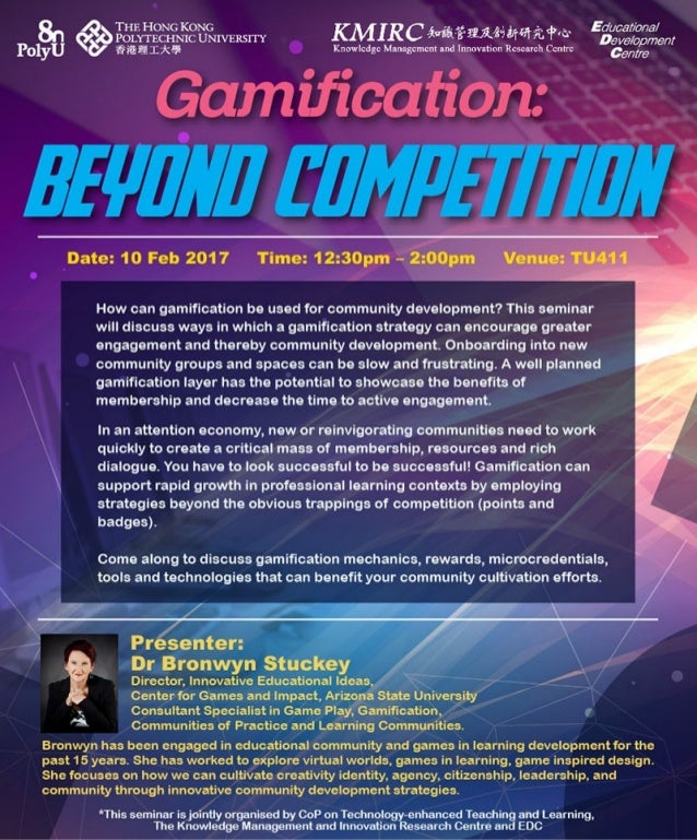 Seminar on Gamification: Beyond Competition