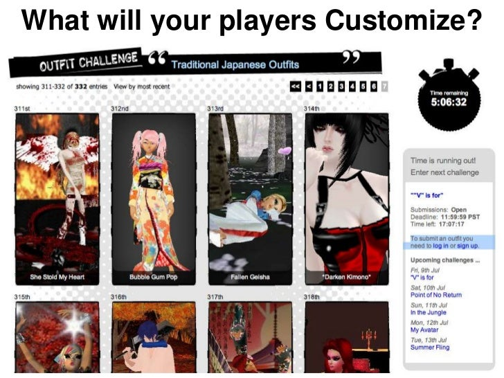 What will your players Customize?