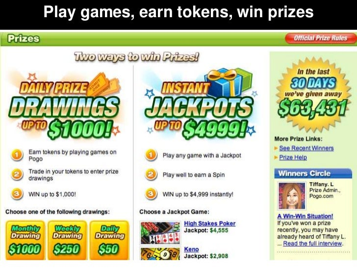 Play games, earn tokens, win prizes