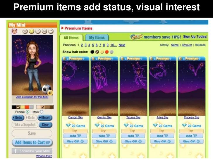 Premium items add status, visual interest