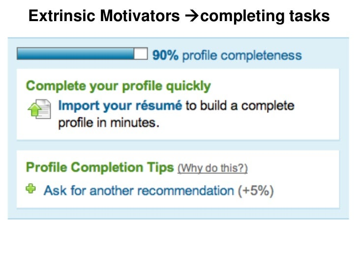 Extrinsic Motivators completing tasks