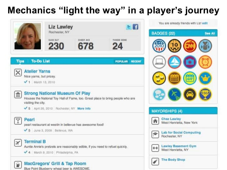 """Mechanics """"light the way"""" in a player's journey"""