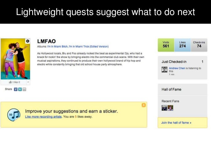 Lightweight quests suggest what to do next