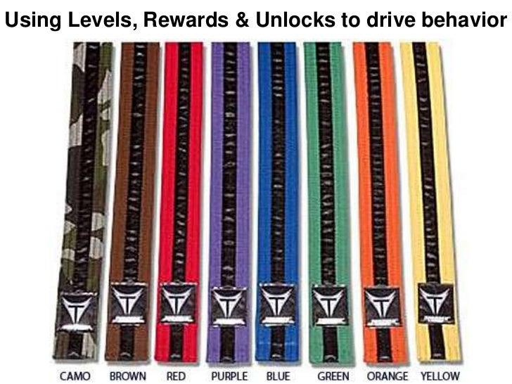 Using Levels, Rewards & Unlocks to drive behavior