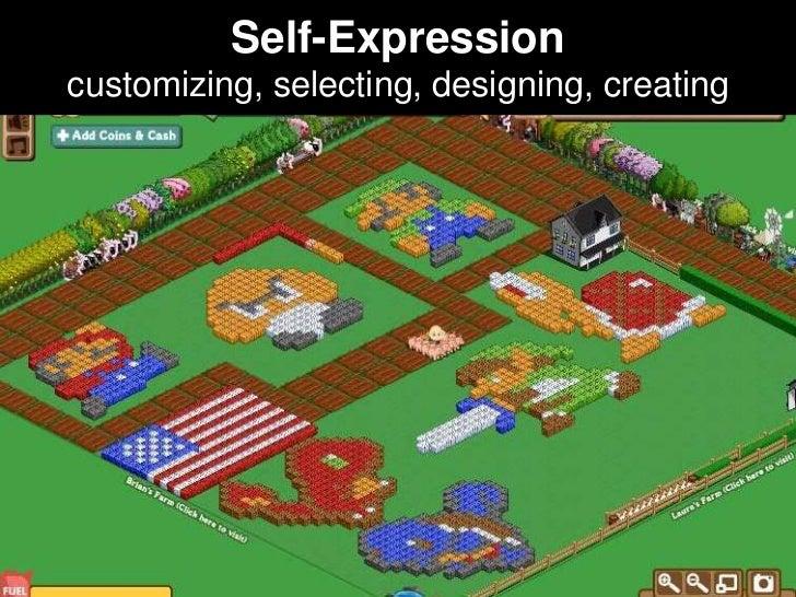 Self-Expressioncustomizing, selecting, designing, creating