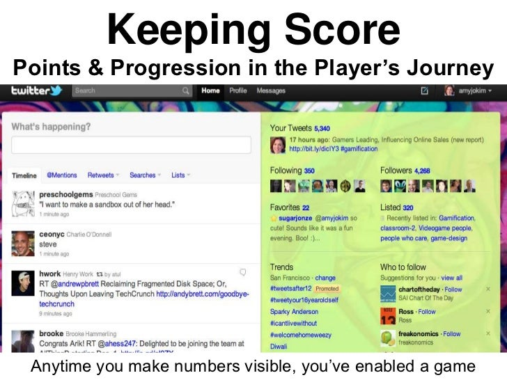 Keeping ScorePoints & Progression in the Player's Journey Anytime you make numbers visible, you've enabled a game