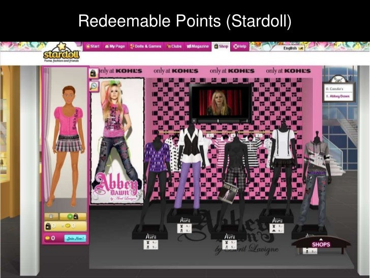 Redeemable PointsRedeemable Points (Stardoll)
