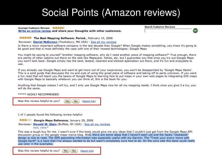 Social Points (Amazon reviews)Social Points (Amazon reviews)