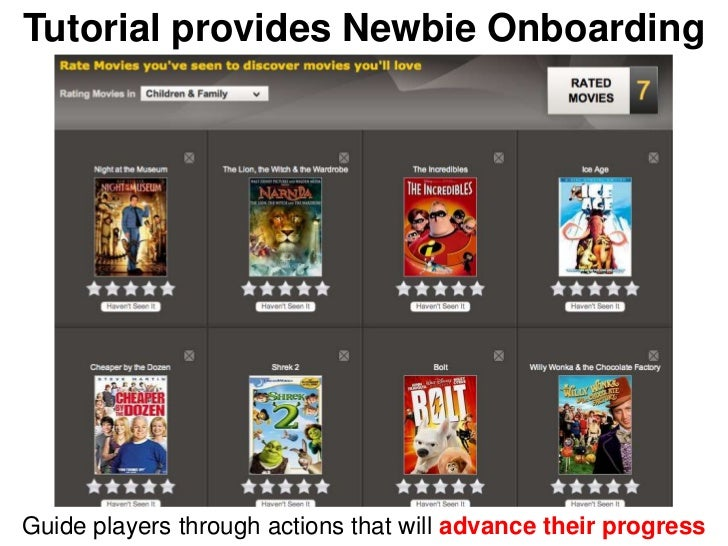 Tutorial provides Newbie OnboardingGuide players through actions that will advance their progress