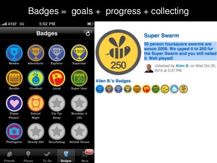 Badges = goals + progress + collecting