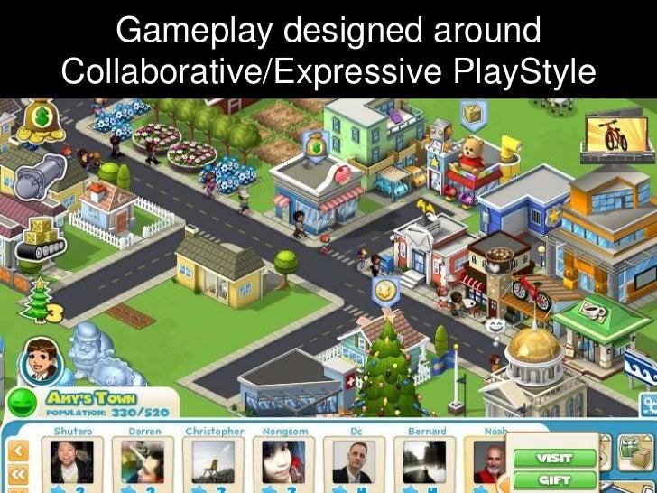 Gameplay designed aroundCollaborative/Expressive PlayStyle