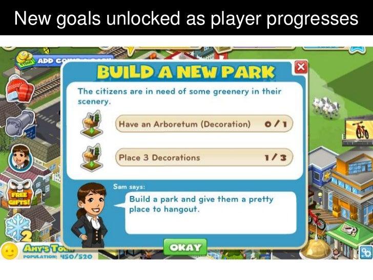New goals unlocked as player progresses