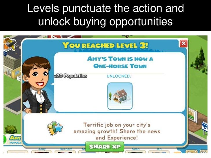 Levels punctuate the action and  unlock buying opportunities