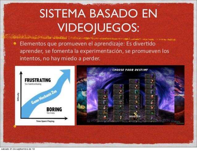 SISTEMA BASADO EN VIDEOJUEGOS: Elementos  que  promueven  el  aprendizaje:  Es  diver:do   aprender,  se ...