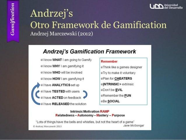 Andrzej's Otro Framework de Gamification Andrzej Marczewski (2012)