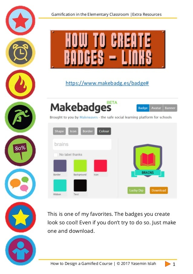 Gamification in the elementary classroom extra_resources