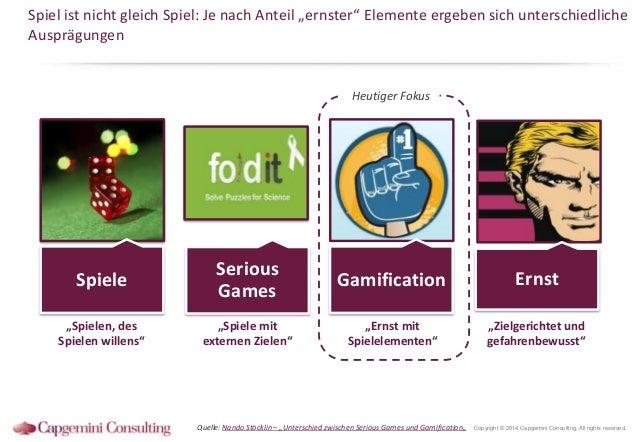 """Spiel ist nicht gleich Spiel: Je nach Anteil """"ernster"""" Elemente ergeben sich unterschiedliche Ausprägungen  Heutiger Fokus..."""