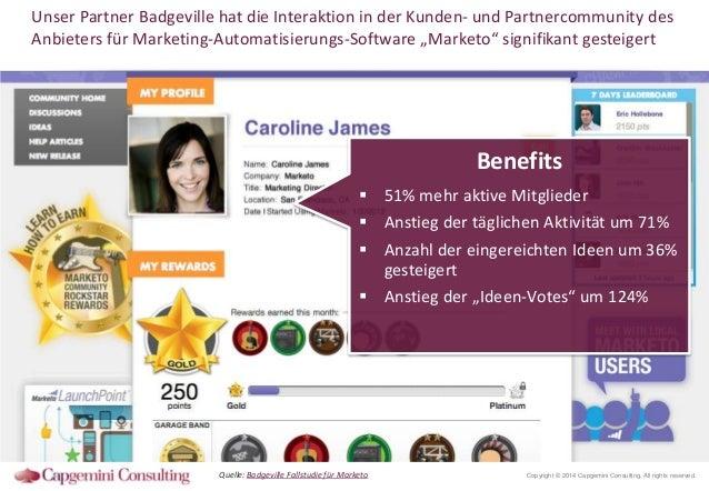 Unser Partner Badgeville hat die Interaktion in der Kunden- und Partnercommunity des Anbieters für Marketing-Automatisieru...