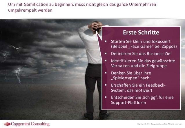 Um mit Gamification zu beginnen, muss nicht gleich das ganze Unternehmen umgekrempelt werden  Erste Schritte  Starten Sie...