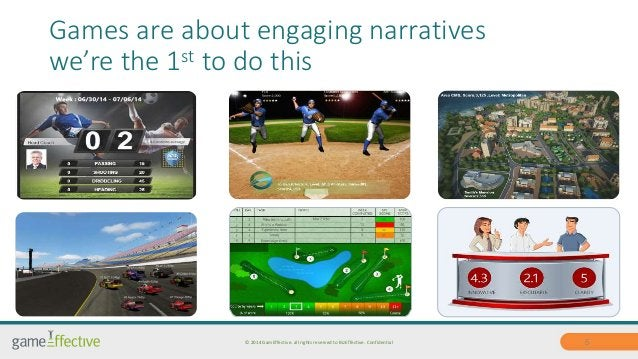 Games are about engaging narratives  we're the 1st to do this  © 2014 GamEffective. all rights reserved to BizEffective. C...