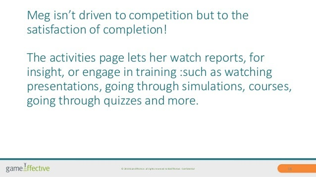 Meg isn't driven to competition but to the  satisfaction of completion!  The activities page lets her watch reports, for  ...