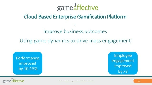 Cloud Based Enterprise Gamification Platform  -  Improve business outcomes  Using game dynamics to drive mass engagement  ...