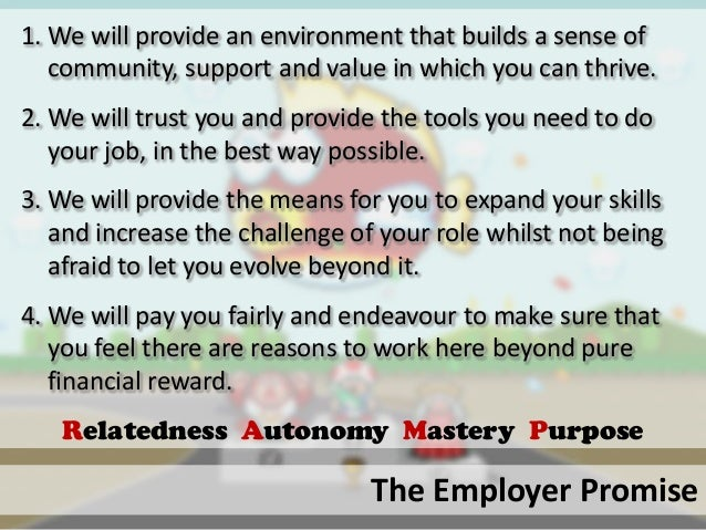 The Employer Promise1. We will provide an environment that builds a sense ofcommunity, support and value in which you can ...