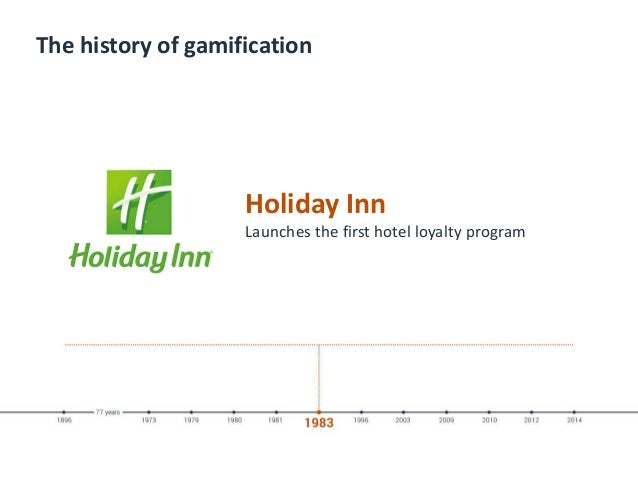 The history of gamification Holiday Inn Launches the first hotel loyalty program
