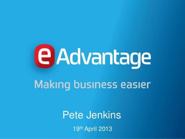Pete Jenkins19th April 2013