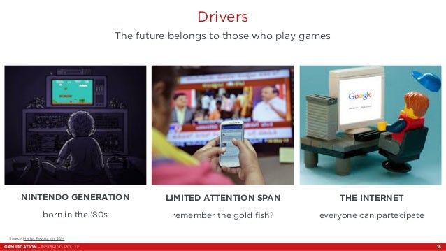 Drivers  The future belongs to those who play games  NINTENDO GENERATION  born in the '80s  LIMITED ATTENTION SPAN  rememb...