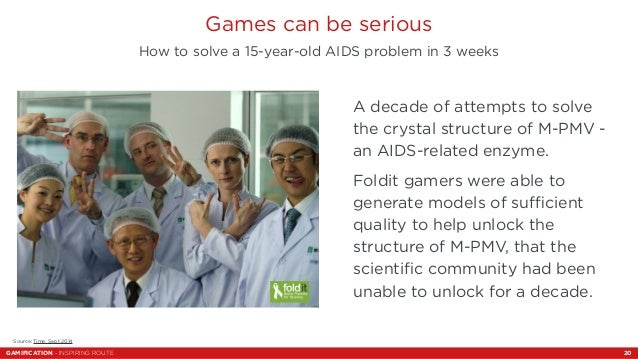 Games can be serious  How to solve a 15-year-old AIDS problem in 3 weeks  A decade of attempts to solve  the crystal struc...