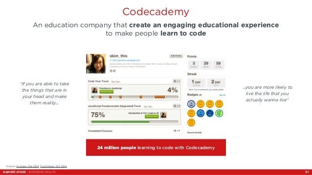 Codecademy  An education company that create an engaging educational experience  to make people learn to code  24 million ...