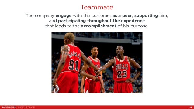 Teammate  The company engage with the customer as a peer, supporting him,  and participating throughout the experience  th...