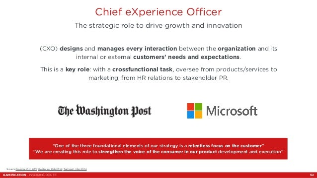 Chief eXperience Officer  The strategic role to drive growth and innovation  (CXO) designs and manages every interaction b...